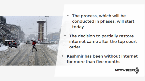 Broadband To Be Partially Restored In Kashmir Today, But No Social Media https://www.ndtv.com/india-news/broadband-internet-in-kashmir-to-be-restored-in-phases-starting-in-the-next-48-hours-sources-2164143… #NDTVNewsBeeps