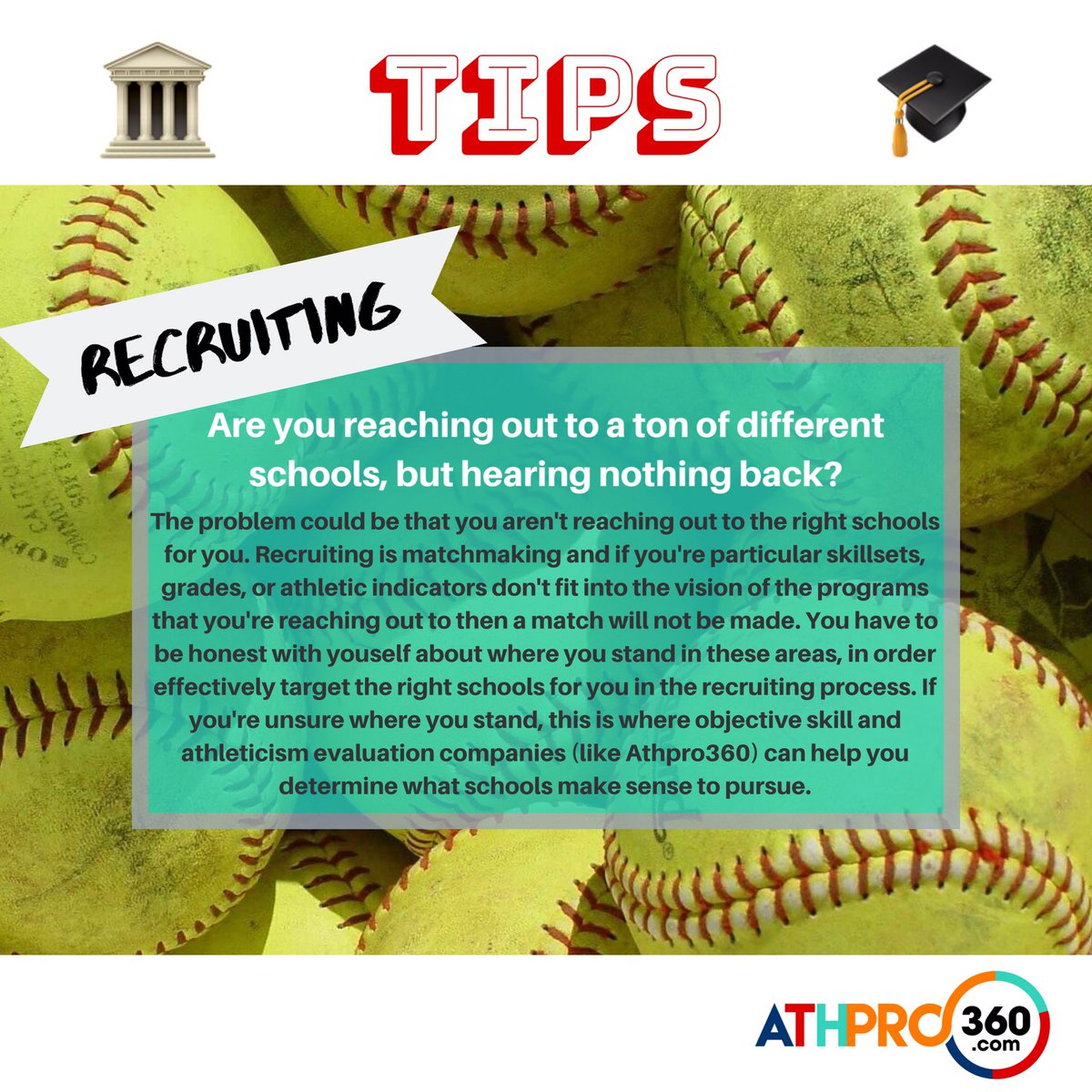 An important tip to keep in mind on college recruiting. ⁣ ⁣ Of course, this same tip applies to all sports ⁣  #collegerecruiting #recruitingtip #collegerecruitingvideospic.twitter.com/3zgq4pfloM