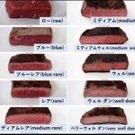 10種類もある!ブルーってなに?!ステーキの焼き加減はどれがお好みですか??