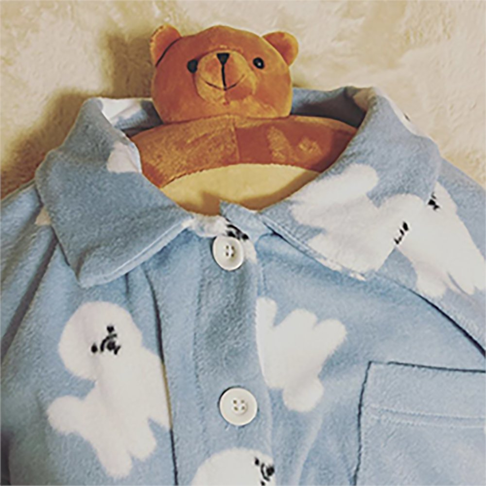 Don't you love Pip's new pajamas? If dogs can look like clouds, can bears look like mountains? It's an age old question. #thk #tinyheads #tinyheadsbighearts #plush #plushie #toys #cutecharacters #plushiesofinstagram #spiritanimal #plushielife #plushiecommunity