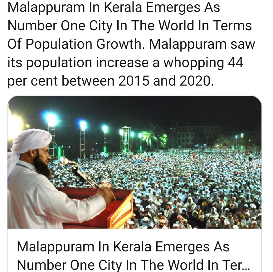 You have forgotten to mention it is fastest growing only in population