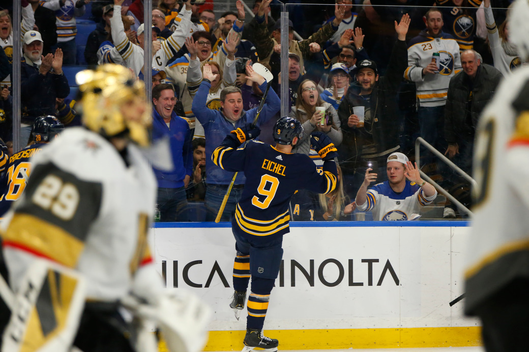 Sabres win second straight, top Golden Knights 4-2