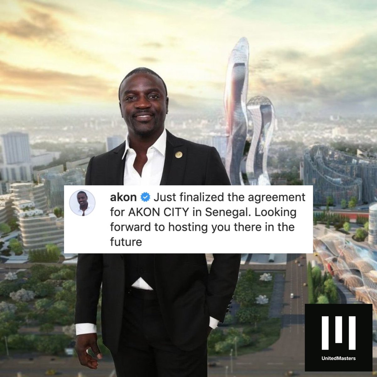 Akon has his own city now 🔥