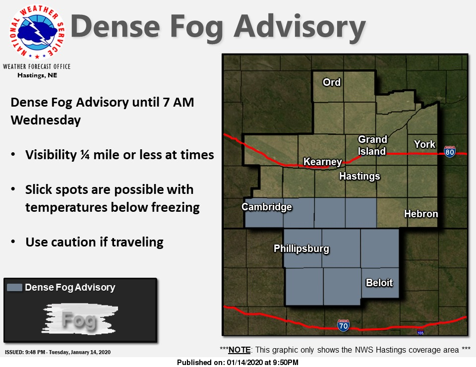 @NWSHastings's photo on Dense Fog Advisory