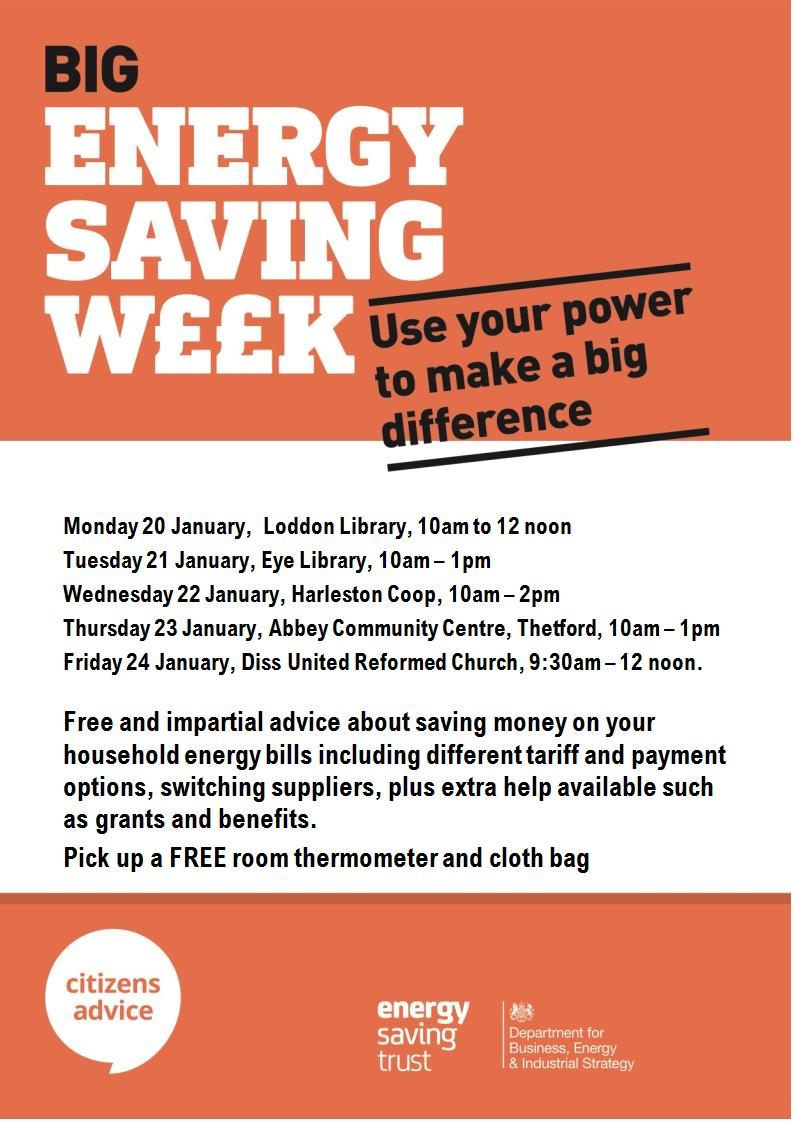 Free session- Citizens Advice: saving money on your household bills @ United Reformed Church Hall (opp Aldi)