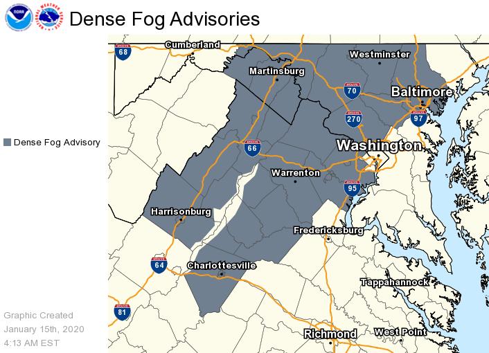 @NWS_BaltWash's photo on Dense Fog Advisory