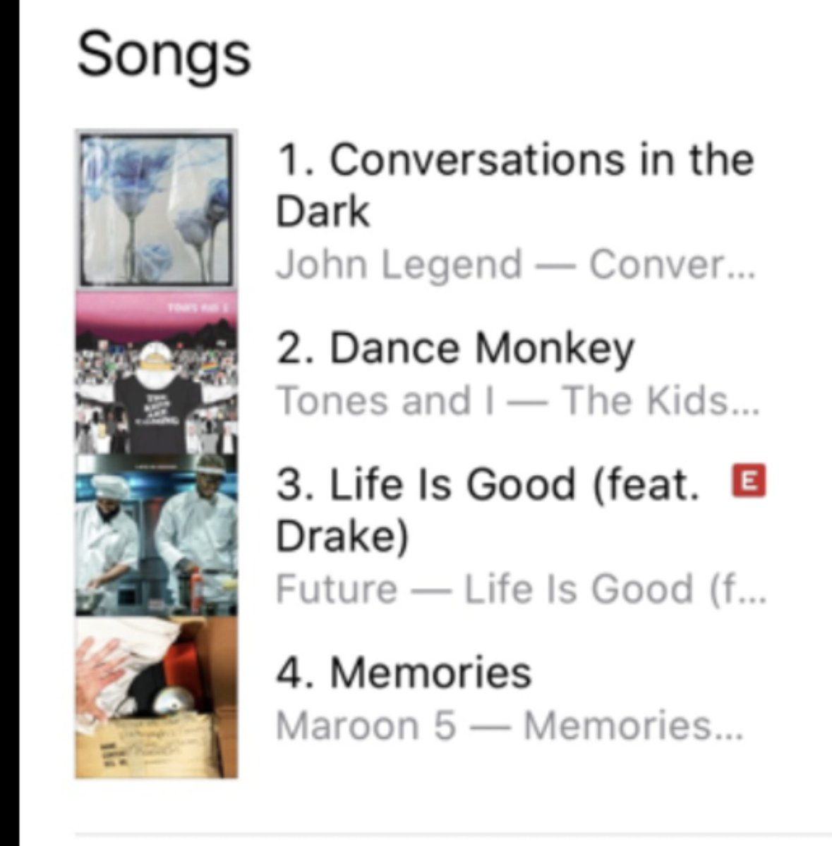 #ConversationsInTheDark is #1 on @iTunes! Thank you everyone! Keep streaming and downloading! ❤️❤️❤️❤️❤️