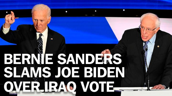 """""""I did everything I could to prevent that war. Joe saw it differently."""" Bernie Sanders slams Joe Biden over Iraq vote https://t.co/1r2BoGhN5S https://t.co/K9a12uwbrF"""