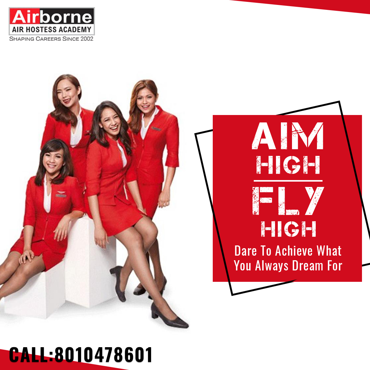 Aim high! Fly high! Dare to achieve what You always dream for #airhostess #cabincrew #crewlife  #aviation #cabincrewlife  #cabincrewgirls  #airport  #aircrew #airlinecrew  For More Details: Website: http://airborneairhostessacademy.com/  Email Id: airborne.fly@gmail.com Phone: +91-­8010478601pic.twitter.com/pWaZ0uQn9z