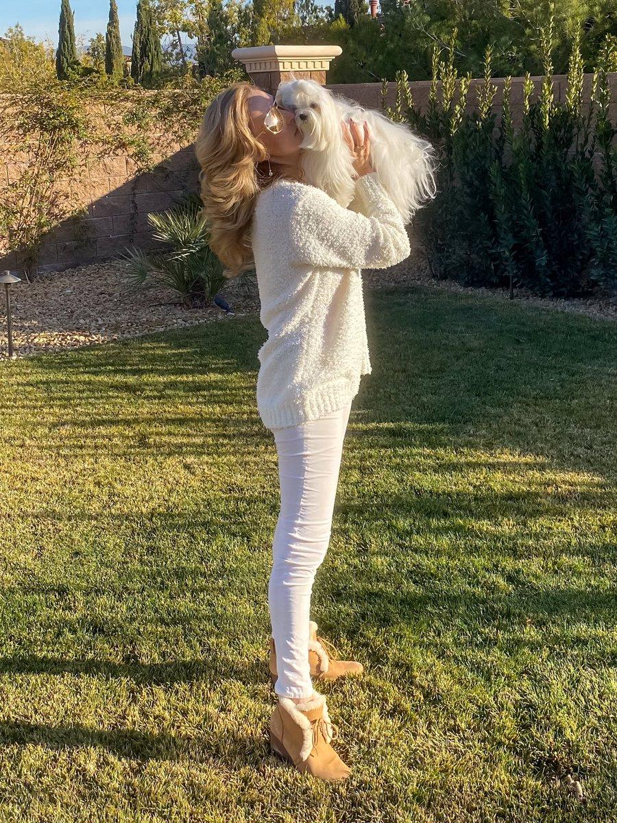 How you'd spend a sunny winter day? Boots @ugg Jeans @agjeans Sweater @revolve Sunglasses @cartier #sunnyday #chadwick #maltese #richie #bichonfrise #bichon #lasvegaslife #lasvegasstyle #lasvegasfashion #livinginlasvegas #uggs #agjeans #revolve #whiteoutfit #lifestylewithisabellapic.twitter.com/jU0zKBjINH