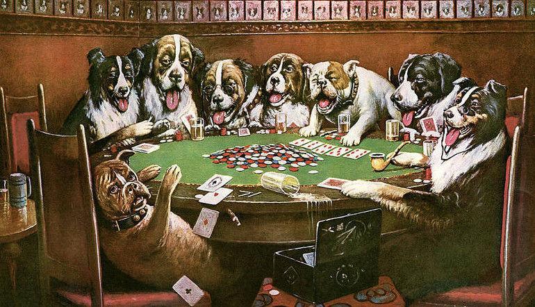 Se que es una ofensa para los perros pero los animales me recordaron a esta pintura.