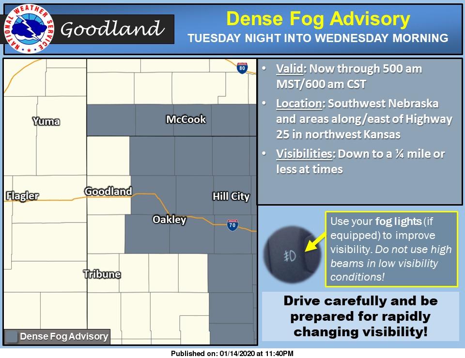 @NWSGoodland's photo on Dense Fog Advisory