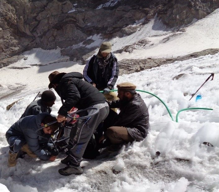 In #Afghanistan, @energy_ministry & our SWaRMA initiative started long-term #cryosphere monitoring. Here's an account by a young colleague from MEW, about joining the first #glaciermonitoring #expedition to Pir-Yakh #Glacier in 2019.  http://bit.ly/2QV5ttE  #CryosphereWednesday