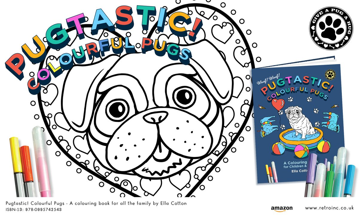 Pugtastic! our weekly #competition starts today Simply #Like & #retweet (#Follow lovely too) #win a copy of out #pug colouring book   https:// amazon.co.uk/dp/0995742545        https:// amazon.com/dp/0995742545       #giveaway #LoveIsIand #WednesdayMotivation #WednesdayWisdom #WednesdayThoughts #free<br>http://pic.twitter.com/P8oBCeVNDY