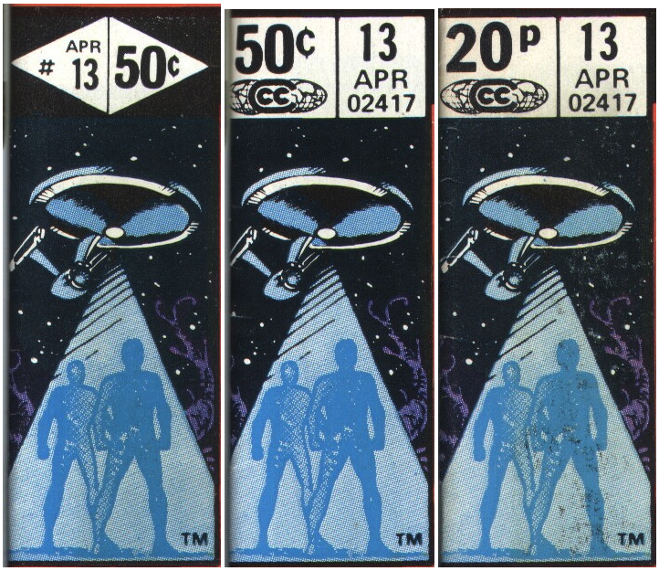 @caltsoudas Have you done Marvel Star Trek corner box art tribute yet? They were all variations of this, some with bright colors, others somewhat drab.