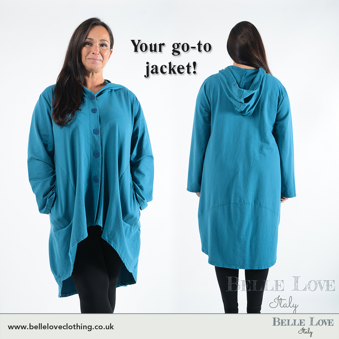 Your go-to hooded jacket that you will love to sport again and again! It's available in many amazing colours.  Shop here: https://bit.ly/2NtIzaR . . . #BelleLove #coats #jumpers #ponchos #shawls #knitwear #womenclothing #ukclothing #winterclothes #madeinitaly #winterwearpic.twitter.com/FhXgVywPKD