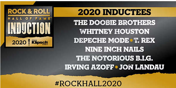 The Rock N Roll HOF is such a freaking joke. At least the Doobies and T Rex made it.  Whitney Houston over Pat Benatar????????  WTF!!  Biggie over Judas Priest, Thin Lizzy, Motorhead, or Soundgarden????  #RockHall2020  #RockHall
