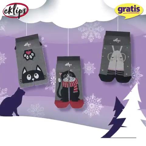 Kışın soğundan ayaklarınızı korumanız için birbirinden eğlenceli desenleriyle Eklips Soket Çorap Çeşitleri 9,75 TL'ye sizin için sadece Gratis'te!