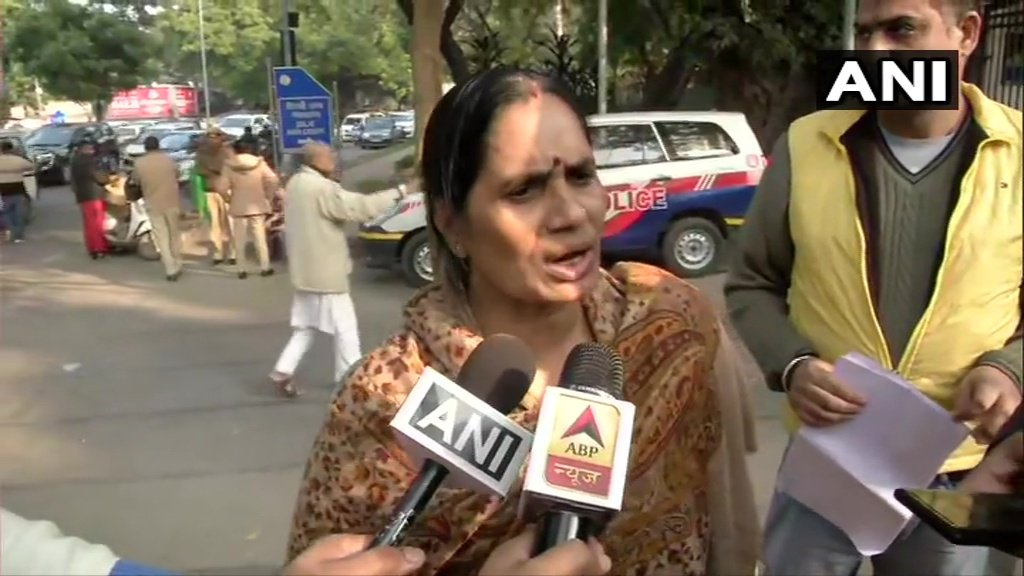 "#NirbhayaCase | ""Either the lawyers of the convicts are trying to delay execution or our system is blind and is supporting the criminals..."": Asha Devi, Nirbhaya's mother. (ANI)More here https://www.ndtv.com/india-news/nirbhaya-case-execution-of-convicts-wont-take-place-on-january-22-as-mercy-petition-filed-delhi-gove-216440 …"