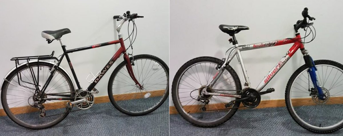 We are trying to find the rightful owners of two bikes, which we believe to have been stolen. Officers say these two bikes were stolen in the early hours of Friday 13 December from #Derby city centre. derbyshire.police.uk/news/derbyshir…