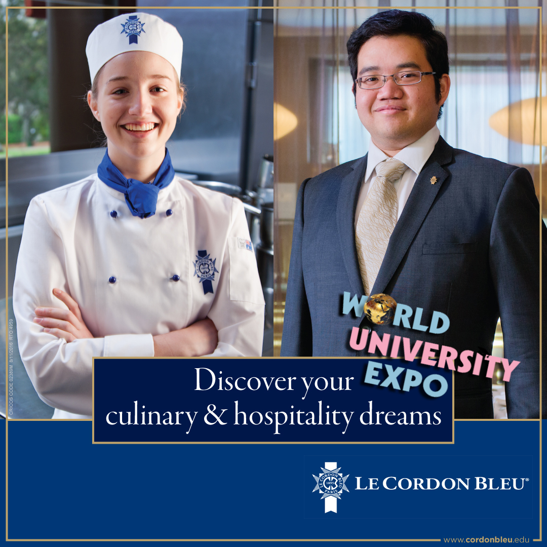 Want to cultivate your creativity in the kitchen by exploring pattiserie and culinary programs? Meet Le Cordon Bleu @ WorldUniExpo on Fri 17 Jan 3-9pm at L3 Concourse. Visit http://expo.OverseasEducation.sg or Call 61009800pic.twitter.com/9EGPZa4q5Q