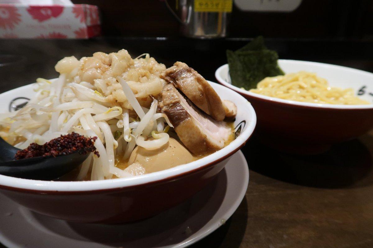 ブログアップ完了  「男盛@河辺」 二郎インスパイア系の味噌つけ麺♪ 味噌や唐辛子が良い感じに効いてウマーい(^O^)/#ramen_cp #男盛 #ラーメン #つけ麺 #味噌つけ麺 #二郎インスパイア系 #河辺