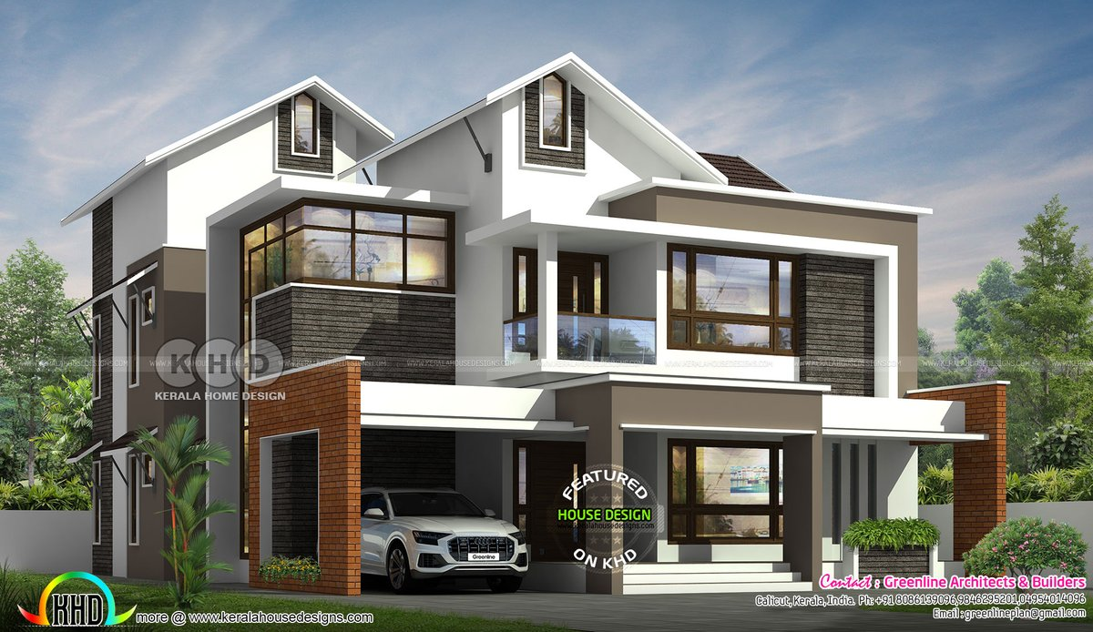 Kerala Home On Twitter Mixed Roof House Architecture Https T Co Ca82sawd9a