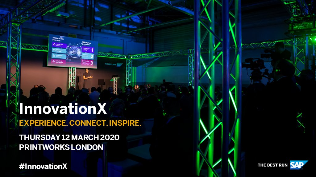 The best businesses optimise everywhere, future-proofing themselves by building efficiency, productivity, and resilience into every process. Discover how to enable your business to run faster, smarter and better at #InnovationX - http://sap.to/60171jwb1