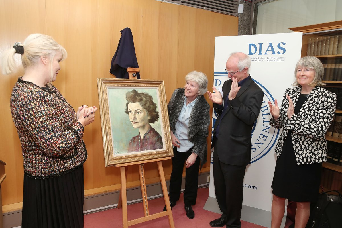 test Twitter Media - #OTD in 2019 @mitchelloconnor unveiled a portrait of Dr Sheila Tinney here at DIAS. Dr Tinney was appointed the first ever female fellow at DIAS and later became a Research Associate at the Institute's School of Theoretical Physics. Today also marks her birthday 🎂 #DIASdiscovers https://t.co/1Eod4X6Kwr