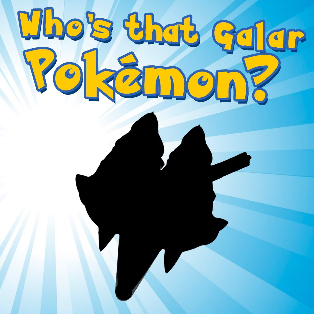 Who's that Galar Pokémon? Comment with your suggestions below! Reveal coming later today... #whosthatpokemon #gottacatchemall #galar #galarregion #galarianform #pokemon #pokemonswordshield #GameFreak #Nintendopic.twitter.com/tEcHp3jKTs