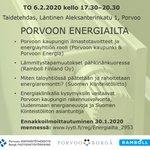 Image for the Tweet beginning: Tule kuulemaan asumisen energia-asioista ja