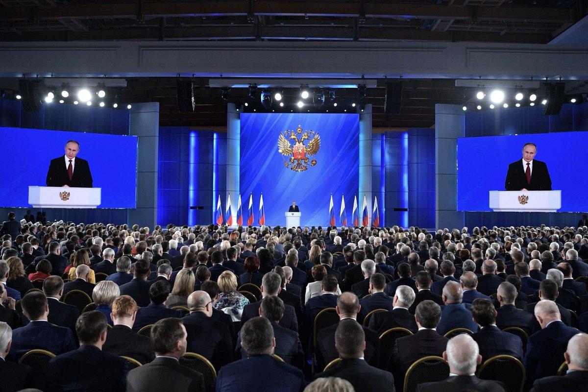 Президент России Владимир Путин обратился с Посланием к Федеральному Собранию, большое внимание уделив технологическому развитию страны.  Подробнее: https://t.co/KAB7iK4Cns  Фото: https://t.co/N33DZxhDgw
