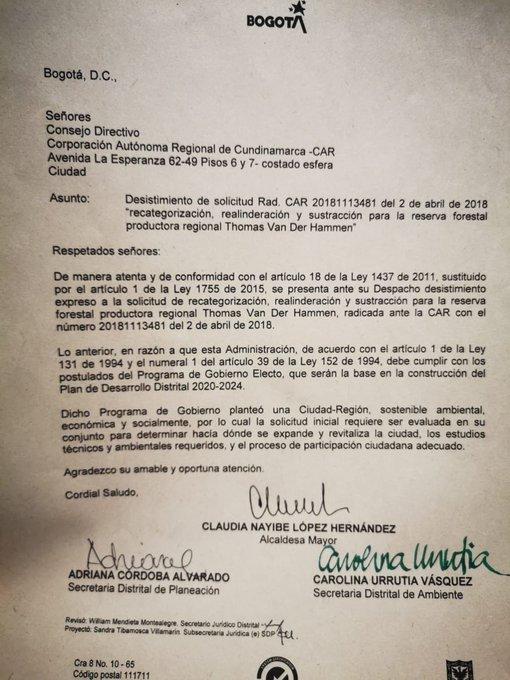 EOUsASTWsAAoqDv?format=jpg&name=small - Alcaldesa de Bogotá desistió de solicitud para intervenir Reserva Van Der Hammen