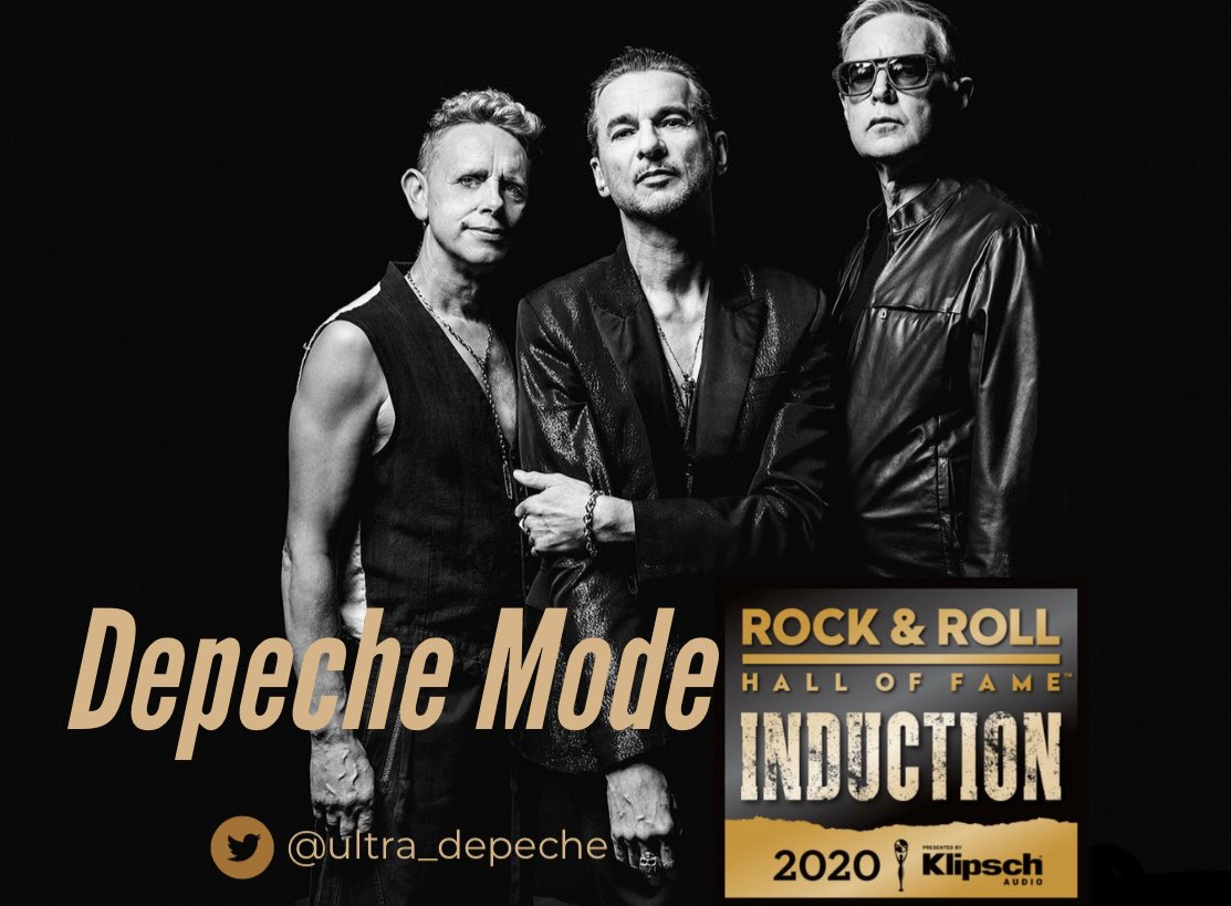 JUST ANNOUNCED:  Depeche Mode to be Inducted into The Rock and Roll Hall of Fame's Class of 2020 / The Induction Ceremony will be held atPublic Auditorium in Cleveland, Ohio on May 2.  Huge Congrats to the boys for receiving this long over due honour, legends. #DepecheMode