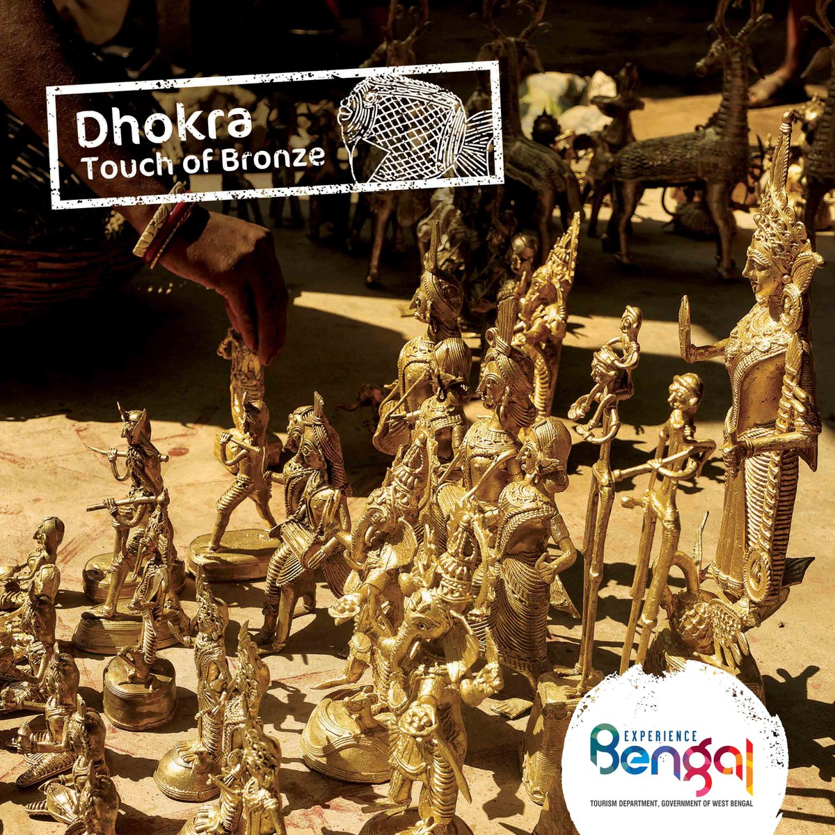 Dhokra: a 4000 year old craftsmanship! Witness the beautiful craft of Bengal at http://bit.ly/2QNvSZk  #ExperienceBengal #BengalTourism #Dhokrapic.twitter.com/hDu6fzHmp1
