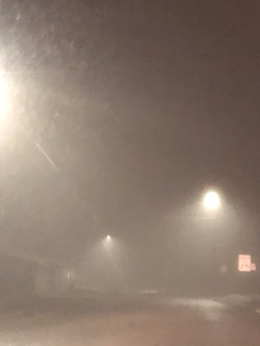 There's a touch of fog out this morning. (Understatement) Drive safe and give yourself plenty of time!