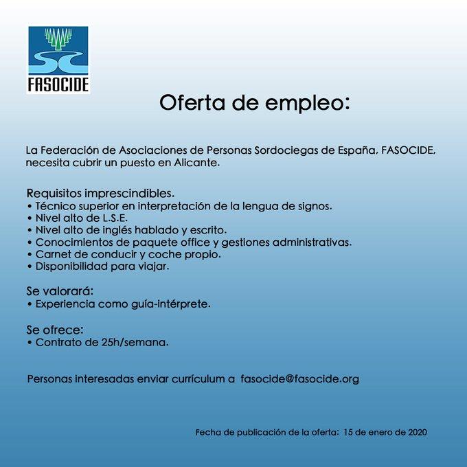 FASOCIDE busca INTERPRETE DE LENGUA DE SIGNOS en Alicante EOUx1a1XsAE1094?format=jpg&name=small