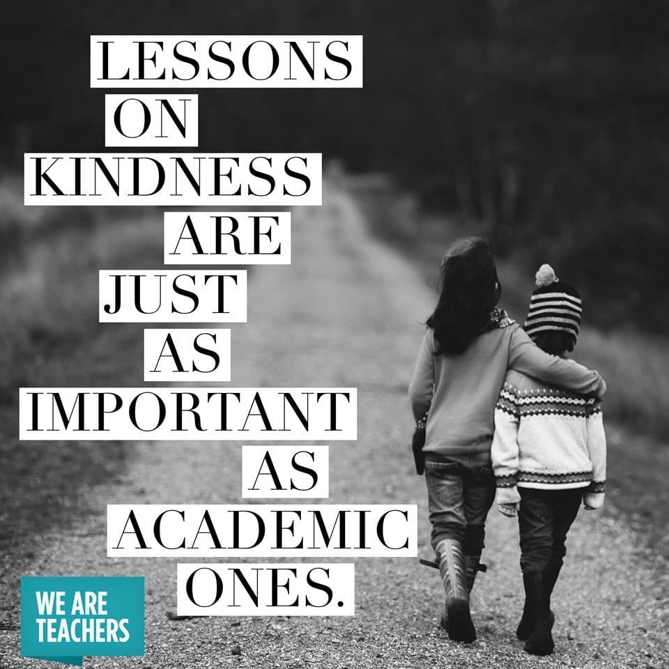 Always teach kindness.  #bekind <br>http://pic.twitter.com/7n3vRUuPtG