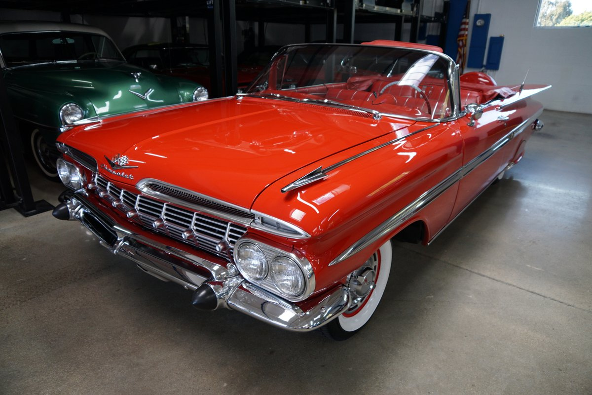 This exceptionally restored 1959 #Chevrolet #Impala 348 Tri-Power #convertible is currently available in California!   Find out more: https://www.americancarcollector.com/classifieds/1959-chevrolet-impala-348-convertible…  #exclusive #blog #weeklyblog #carauction #collectorcarauction #sportscar #musclecar #exoticcar #classiccar #carsforsalepic.twitter.com/b1MuBwmGAv