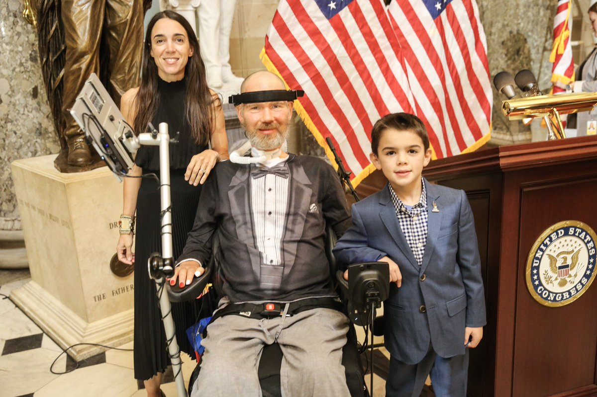 At the Capitol for the Congressional Gold Medal Ceremony in honor of @SteveGleason! ⚜️