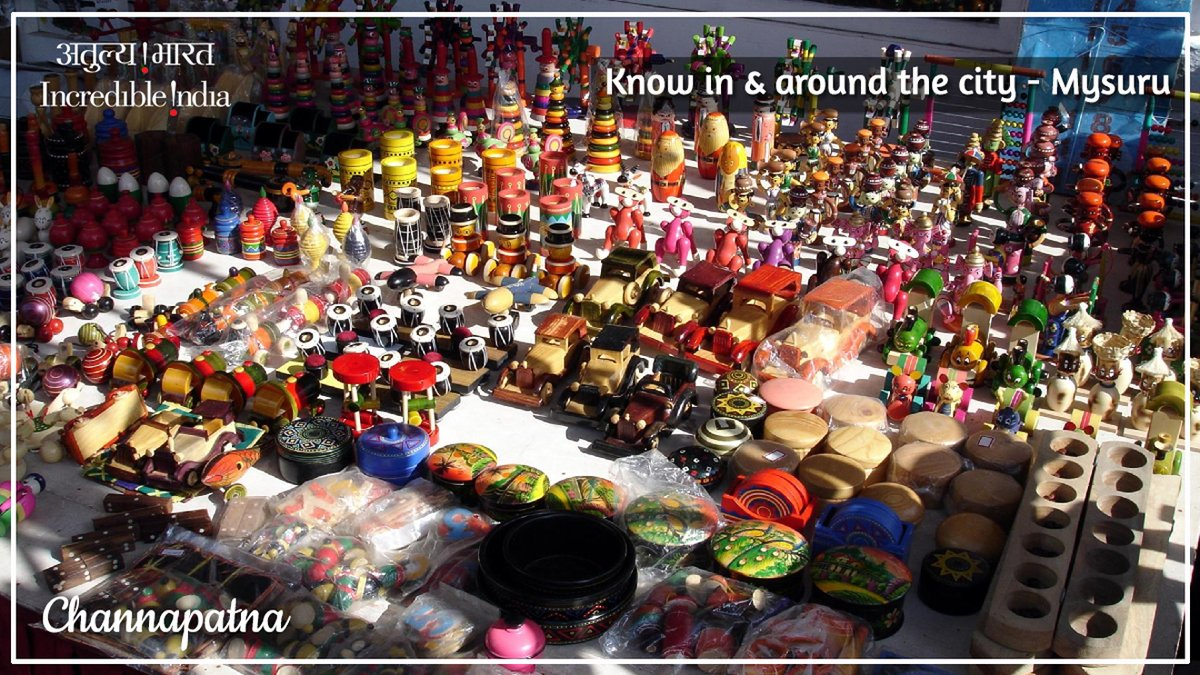 Known for lacquerware and wooden toys, #Channapatna is famously called 'Gombegala Ooru', which means town of toys. Made of aale mara or ivory wood and colored with vegetable dyes, one can buy a variety of toys from dolls, horses to mathematical puzzles from here.  @prahladspatel