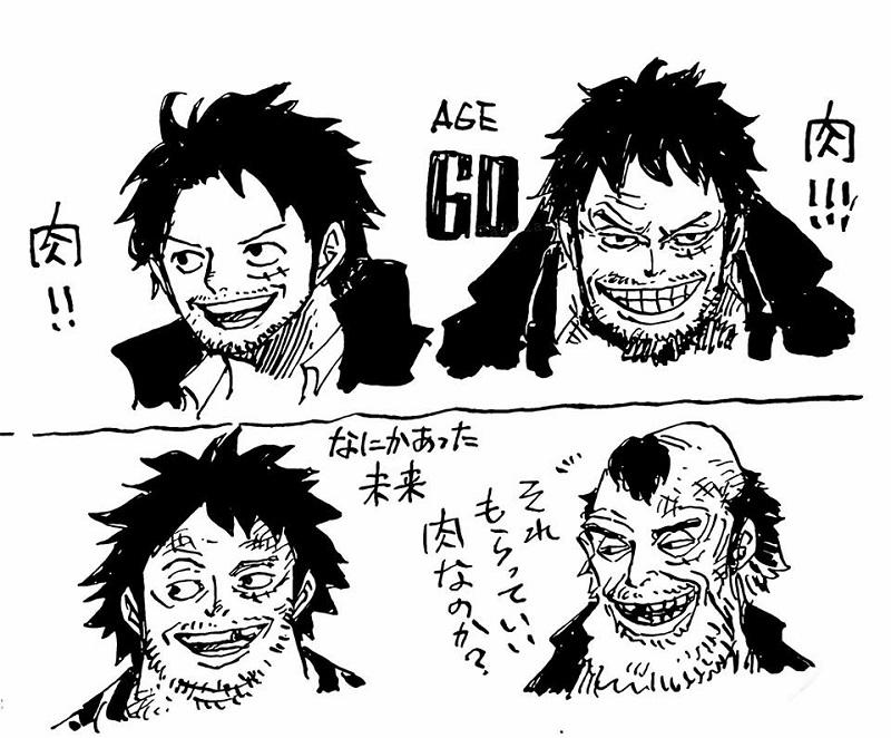 Các nhân vật One Piece sẽ như thế nào khi về già?