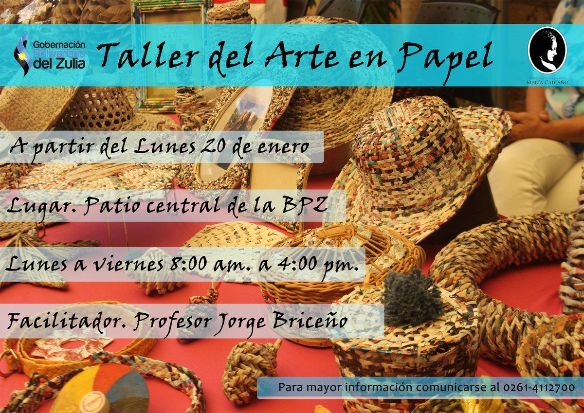 Los invitamos para que sean parte del Taller del Arte en Papel, que se dicta todos los días en nuestras instalaciones. #SomosBPZ #ZuliaMía #ArteEnPapel #ZuliaPotencia #Artesania #Creatividadpic.twitter.com/iAdKDCg9tF