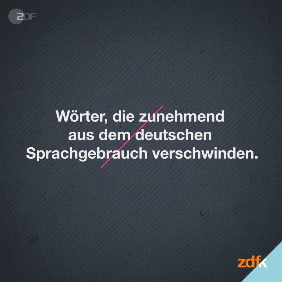 """Sapperlot! Wisst Ihr, was mit Schwindsucht gemeint ist oder wann man sich kommod fühlt? Viele """"alte"""" Wörter verlieren zunehmend an Bedeutung. Welche aus der Mode gekommenen Begriffe benutzt ihr noch gerne? #ZDFkultur"""