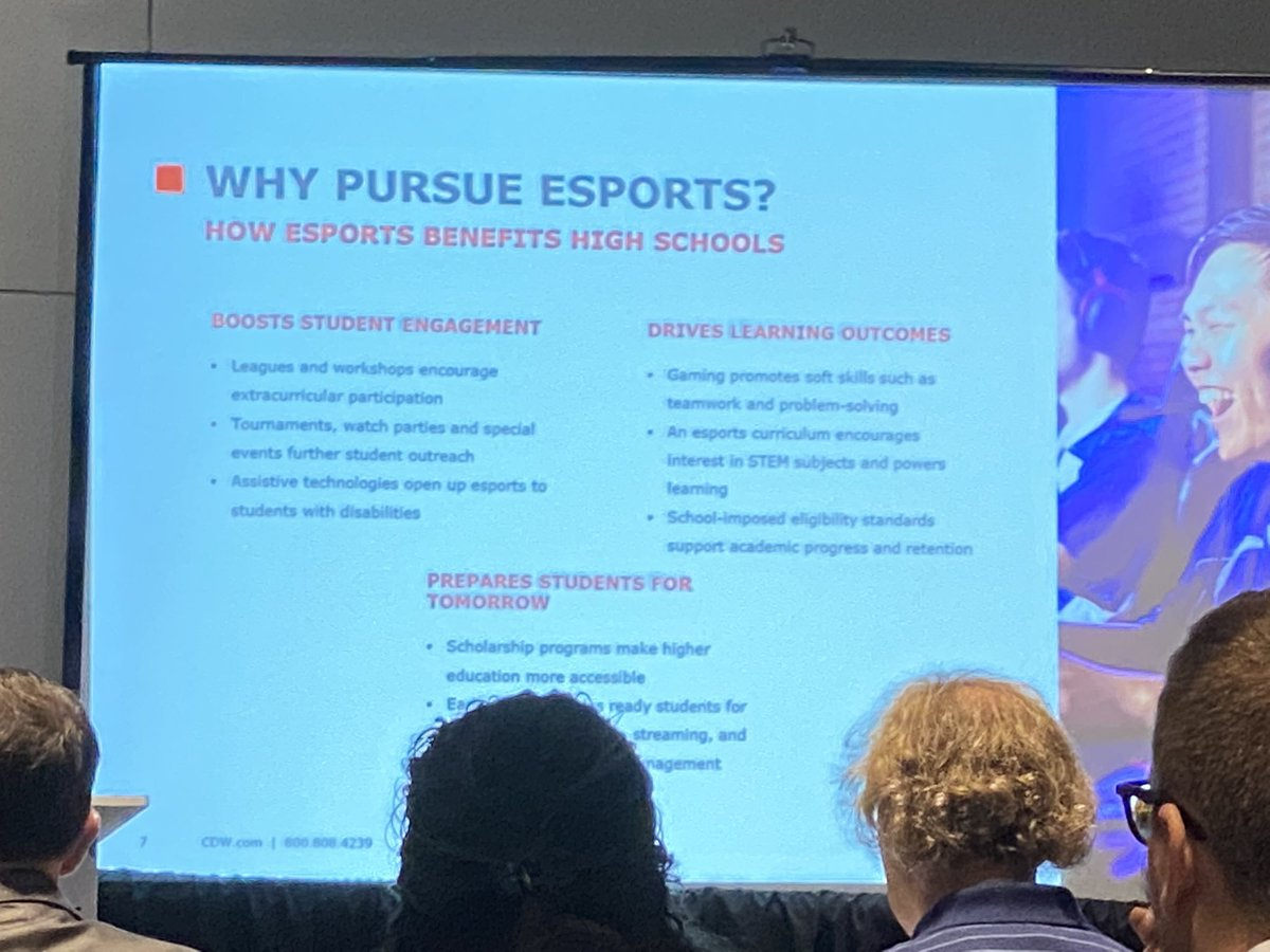 Esports in HS...why? It boosts student engagement, drives learning outcomes, and prepares students for tomorrow. #FETC <br>http://pic.twitter.com/TM5sewy3Rl