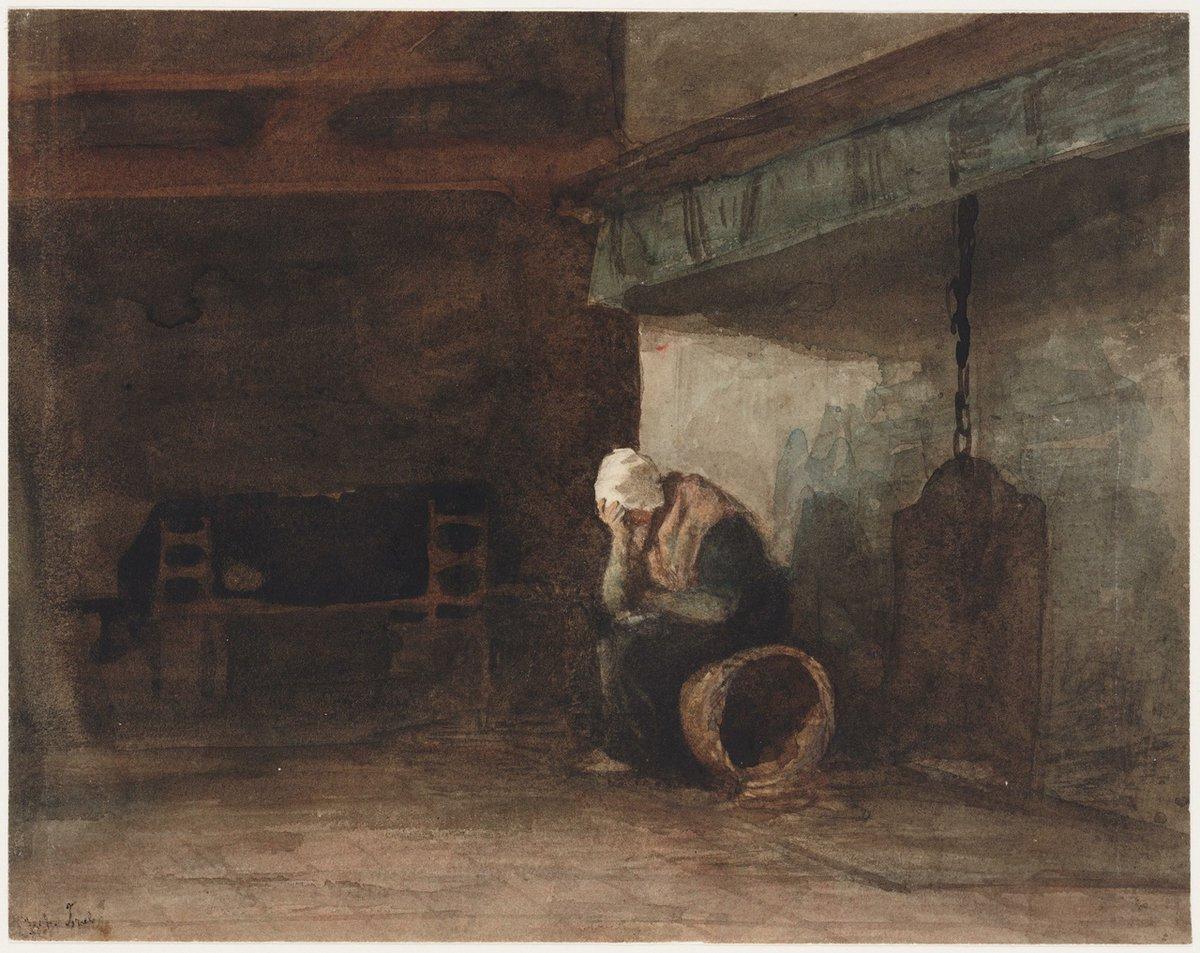 #BlueMonday.... sigh....  Left behind, alone Jozef Israëls (1824-1911)  #artoftheday