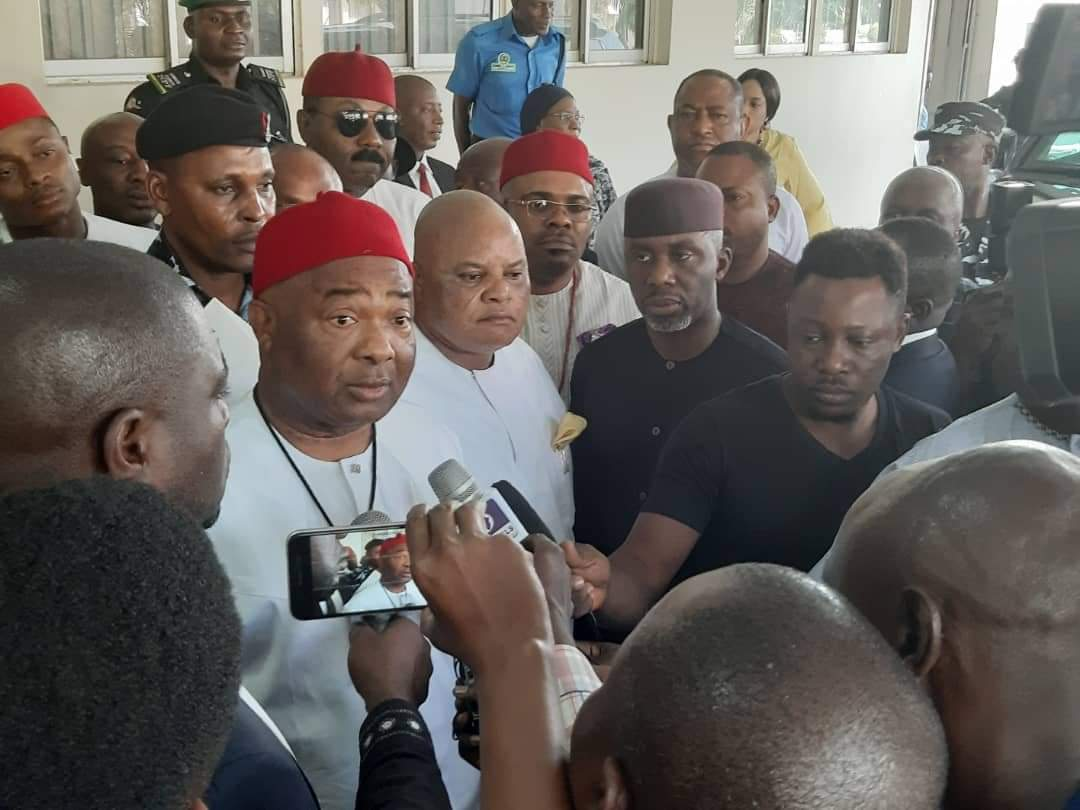 Ahead of his swearing in, Imo State Governor-elect Sen. Hope Uzodinma has collected his certificate of return from INEC.  He was accompanied by Candidate of APGA, Sen. Ifeanyi Araraume & Candidate of AA, Uche Nwosu.  Politics. Quite something. <br>http://pic.twitter.com/LckPrvwqmw