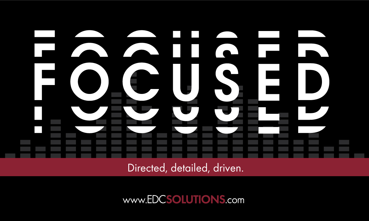 One of our core values is staying focused. We strive for directed purpose and intention in all aspects/facets of our organization. EDC achieves client goals, delivering satisfaction through detailed design and execution.   #AVsolutions #edc #audio #video #electronicdesignpic.twitter.com/wIXryu6zUB