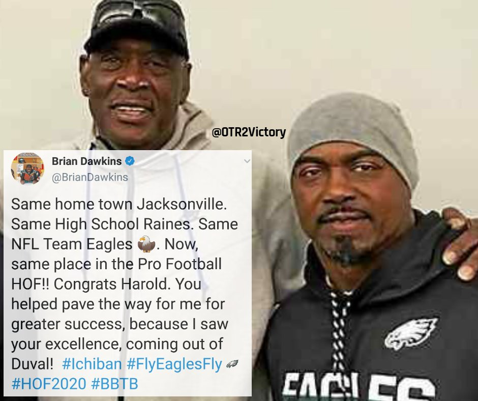 Brian Dawkins on Harold Carmichael's HOF induction:  #BrotherlyLove #FlyEaglesFly