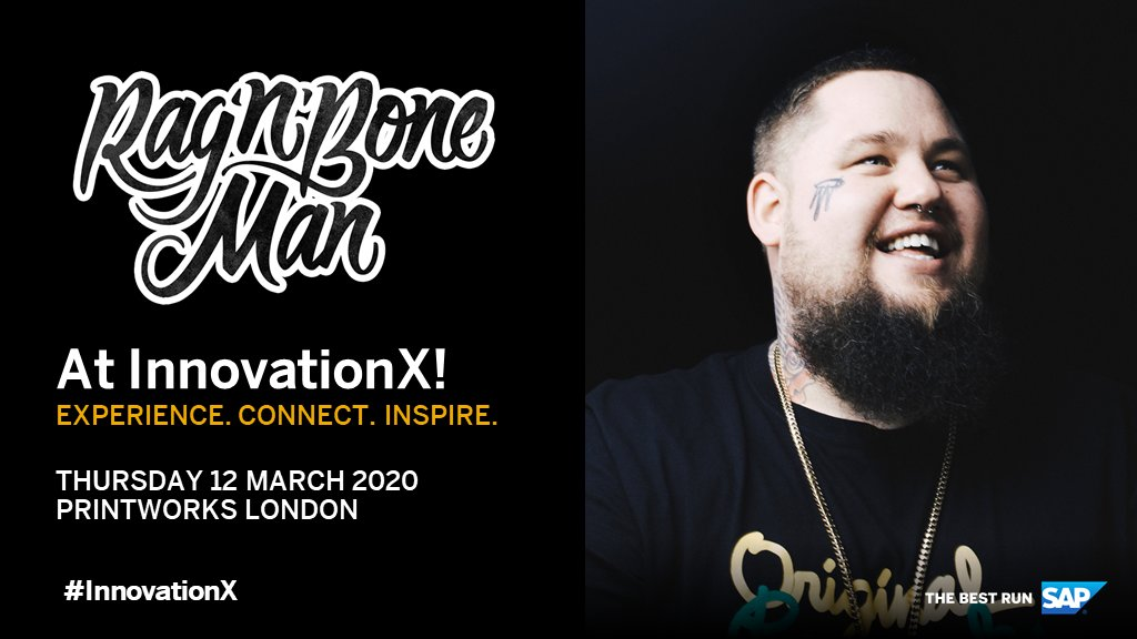 We are so excited to announce that the multi-award winning Rag'n'Bone Man will be joining us at #InnovationX for a live performance! Don't miss out, register now! – http://sap.to/60151jex3 #RagnBoneMan